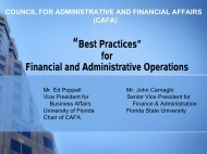 """Best Practices"" for Financial and Administrative Operations"