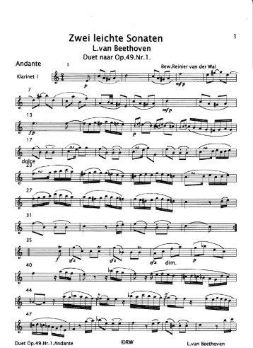 Beethoven: Duetten 2 leichte Sonaten - Clarinet Institute Home Page