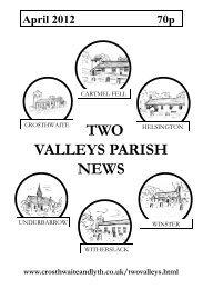 April 2012 - The Parish of Crosthwaite and Lyth