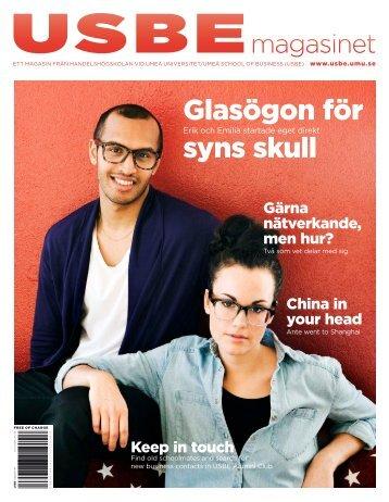 Glasögon för syns skull - Handelshögskolan vid Umeå universitet
