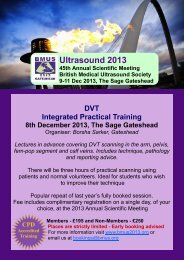 DVT ITD flyer - British Medical Ultrasound Society