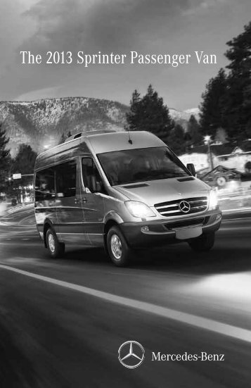 The 2013 Sprinter Passenger Van - TheSprinter.ca
