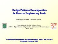 Design Patterns Decomposition in Reverse Engineering Tools