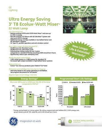 Ultra Energy Saving 3u0027 T8 Ecolux® Watt Miser® - GE Lighting  sc 1 st  Yumpu & Ultra Energy Saving 2u0027 T8 Ecolux® Watt Miser® - GE Lighting