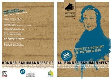 13. bonner schumannfest bonner-schumannfest.de