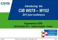 CIB 2011 - W078 - W102 Joint Conf - Computer Knowledge Building ...