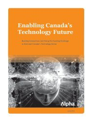 Enabling Canada's Technology Future - Alpha