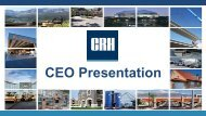 2013 AGM Presentation - CRH