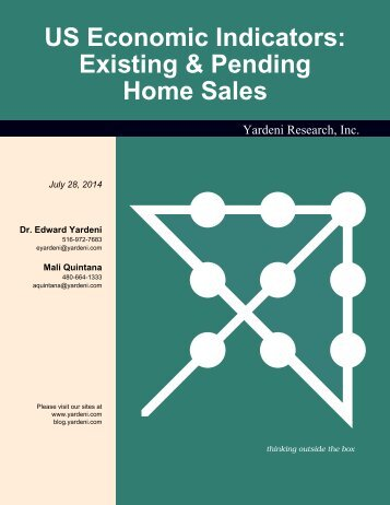 Existing & Pending Home Sales - Dr. Ed Yardeni's Economics Network