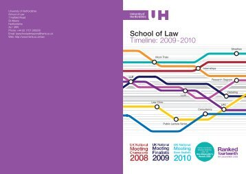 Download Timeline 2009 - University of Hertfordshire