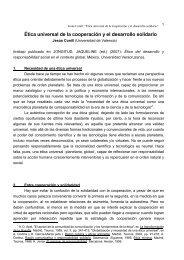 Ética universal de la cooperación y el desarrollo solidario