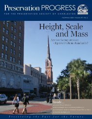 Height, Scale and Mass - Preservation Society of Charleston