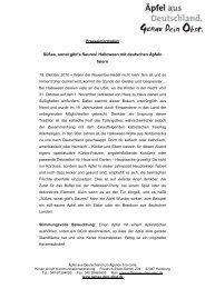 Pressemitteilung: Halloween mit deutschen Äpfeln - Genau dein Obst
