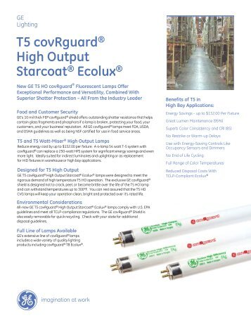 T5 covRguard® High Output Starcoat® Ecolux® - GE Lighting