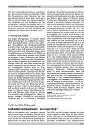 Architektenvertragsmuster … Ein neuer Weg? - Oeffentliche Auftraege