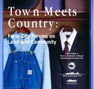 Town Meets Country: Farm-City Forums on Land ... - Smart Growth BC