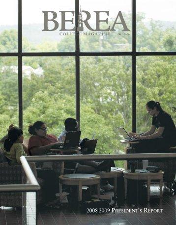 2008-2009 PRESIDENT'S REPORT - Berea College