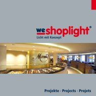 Projekte · Projects · Projets - we-shoplight
