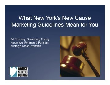 What New York's New Cause Marketing Guidelines Mean for You