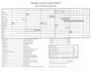 Click here for the calendar - Wasatch County School District