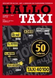 Hallo Taxi 1/2013 - bei Taxi 60160