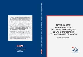 Estudio sobre los servicios de prácticas y empleo de las ... - Madri+d