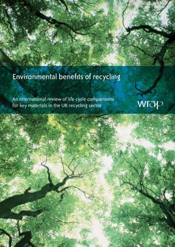 Environmental benefits of recycling - Chicago Conservation Corps ...