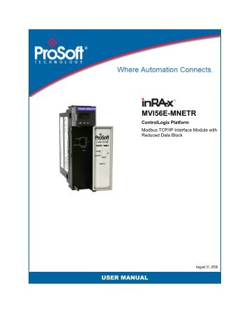 MVI56E-MNETR User Manual - ProSoft Technology