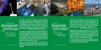 Pour un développement responsable de l'énergie ... - France TNP