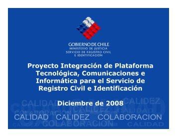 Bajar Presentación - Servicio de Registro Civil e Identificación