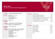 Master Data Vienna International Hotelmanagement AG