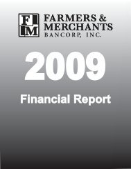 Financial Report - Farmers & Merchants State Bank