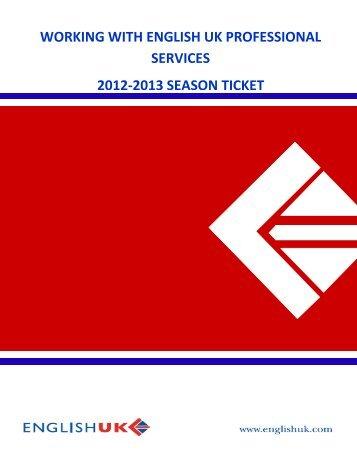 Season Ticket Scheme 2012-2013 - English UK