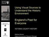Slides - Victoria County History