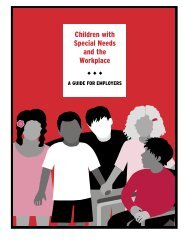 Children with Special Needs and the Workplace - New England Serve