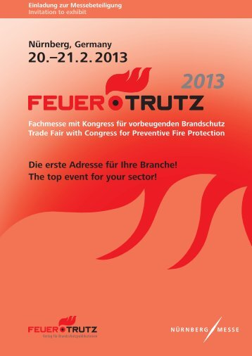 The top event for your sector! - FeuerTRUTZ