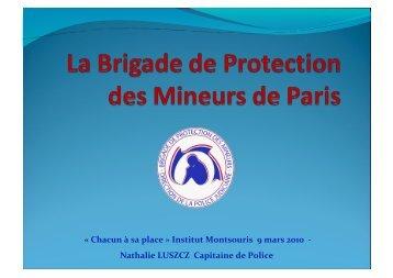 « Chacun à sa place » Institut Montsouris 9 mars 2010 ... - Derpad