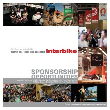 Download the Interbike 2013 Sponsorship Brochure here