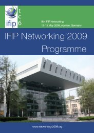 IFIP Networking 2009 Programme - RWTH Aachen University