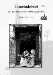 Gemeindebrief Maerz 2002
