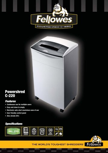 Fellowes C-220 Brochure.pdf - TradeShredders.com
