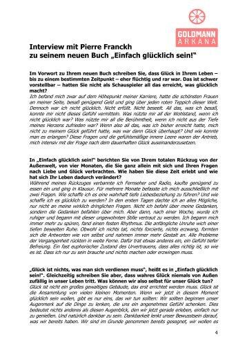 """Interview mit Pierre Franckh zu seinem neuen Buch """"Einfach ..."""