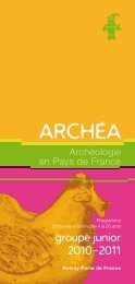 Programme 2010-2011 Archéa - (CDDP) Val d'Oise