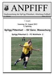 SpVgg Pittenhart – SV Genc. Wasserburg