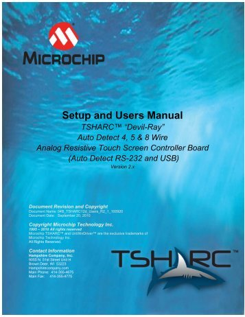 "Setup and Users Manual TSHARC™ ""Devil-Ray"" - Microchip"