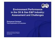Environment Performance in the Oil & Gas E&P Industry ... - Aftp