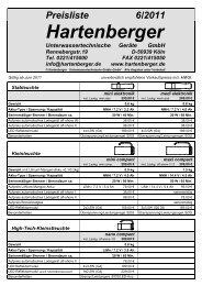 Preise - Hartenberger