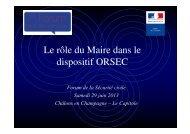 Microsoft PowerPoint - Le r\364le du Maire dans le dispositif ORSEC ...