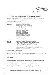 Peckham and Nunhead Community Council - Meetings, agendas ...