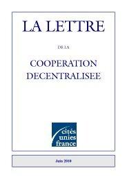 juin 2010 - Cités Unies France